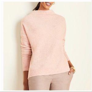 Ann Taylor pink melange mock neck sweater XXSP